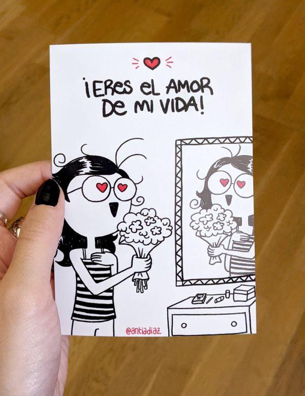 Amor propio - Postal de san valentin sostenida en la mano